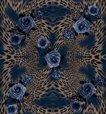 leopard flower blue