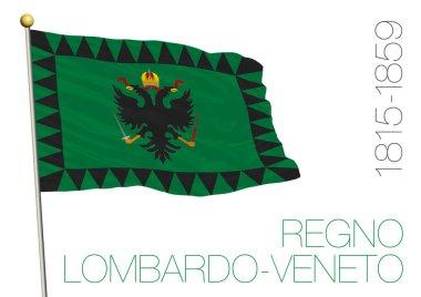 lombard venetian kingdom historical flag, italy