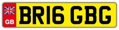 fantasy car plate of the united kingdom