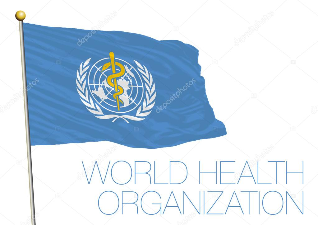 United Nations, World Health Organization, WHO flag ...