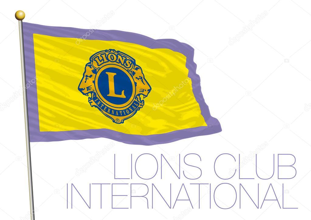 c544fdfddee38 Vector bandera de club de leones de ilustración de archivo - vectorizado   logo club de leones internacional — Vector de ...