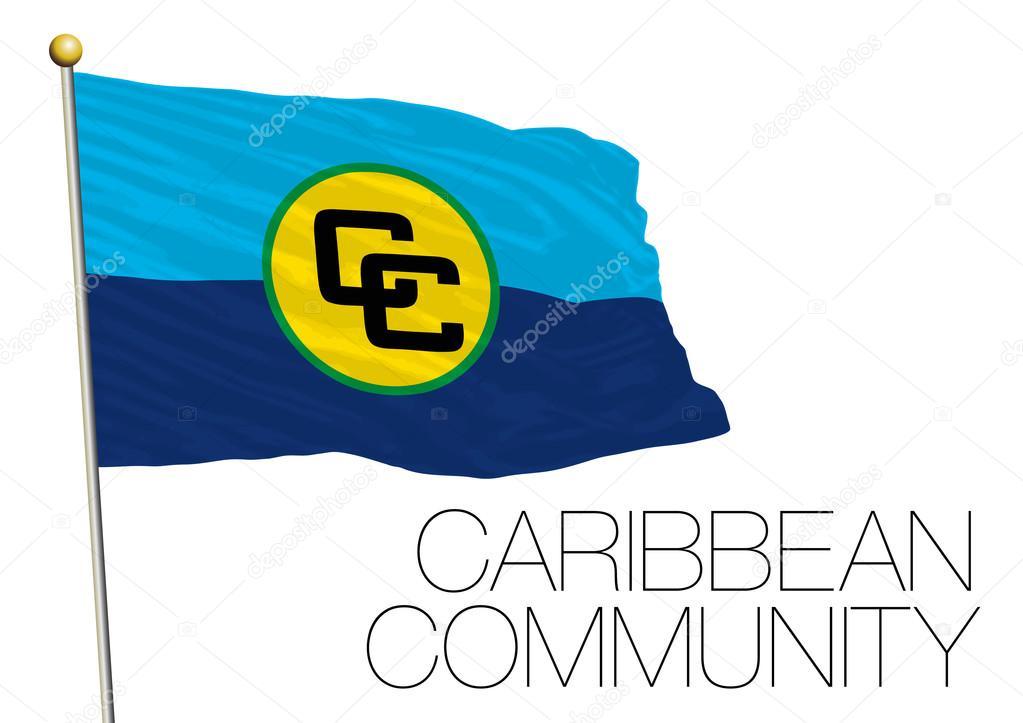 カリブ共同体組織の旗 — ストッ...