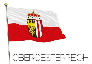 Upper Austria regional flag, land of Austria