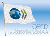 Photo Organisation for Economic Co-operation and Development, OECD flag and symbol