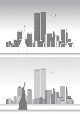 WTC, World Trade Center and the New York Skyline