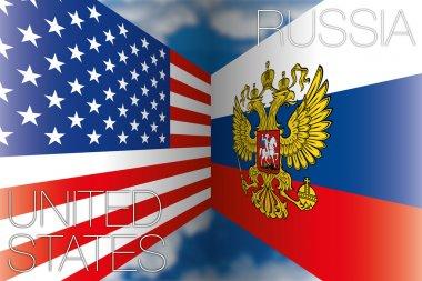 Usa vs russia flags