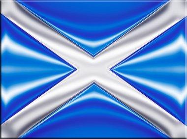 Scotland metallic flag