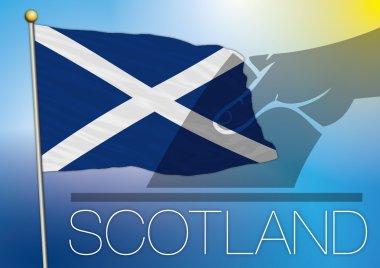 Scotland flag and vote symbol