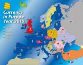Europe currency map euro zone 2015