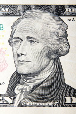 Alexander hamilton, us dollars portrait