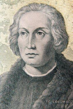 Christopher columbus, italian lire banknote portrait