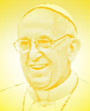 Pope francis graphic elaboration portrait