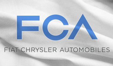 Fca flag, fiat and crysler automobile industries