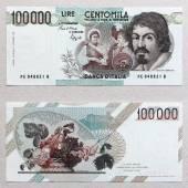 banconota da 100 mila lire, vintage