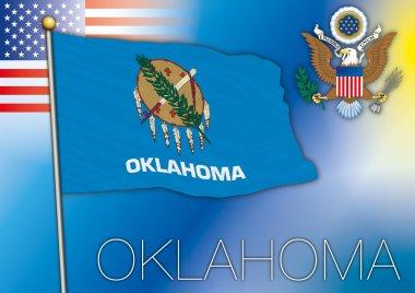 oklahoma flag, us state