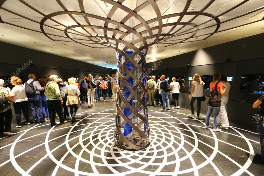 MILAN, - SEPTEMBER 19, 2015: Tree of life tower fountain, world exhibition Expo 2015.