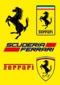 Ferrari logo vektorové ilustrace