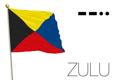 zulu flag, International maritime signal and morse code symbol