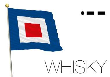 Whisky flag, International maritime signal and morse code symbol