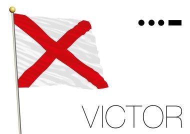 Victor flag, International maritime signal and morse code symbol
