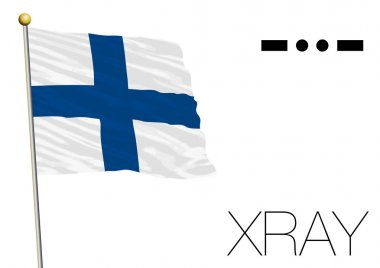Xray flag, International maritime signal and morse code symbol