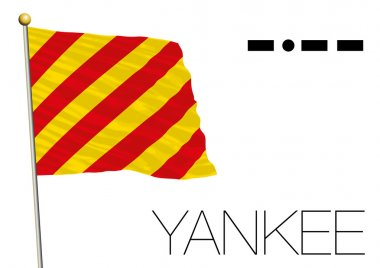 yankee flag, International maritime signal and morse code symbol