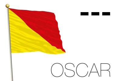 oscar flag, International maritime signal and morse symbol