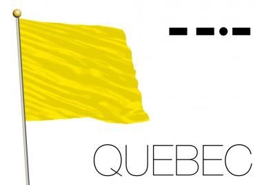 Quebec flag, International maritime signal and morse symbol