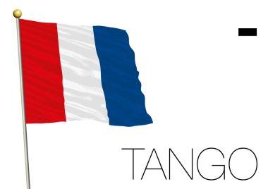 Tango flag, International maritime signal and morse symbol