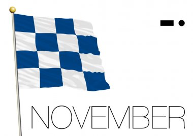 November flag, International maritime signal and morse symbol