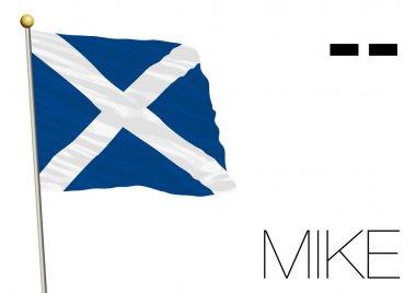 Mike flag, International maritime signal