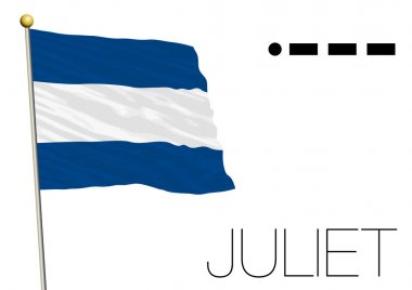 juliet flag, International maritime signal