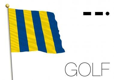 Golf flag, International maritime signal
