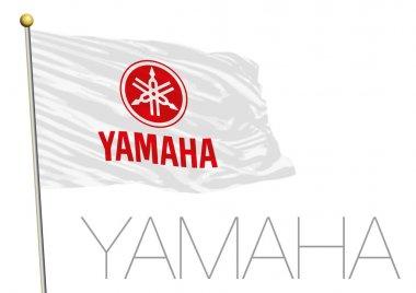 Yamaha racing flag, motorcycle sport team, editorial