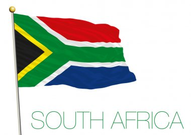 south africa flag isolated on the white background