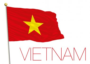 vietnam flag isolated in the wind