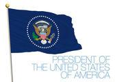 Fotografie us Presidential flag, präsident der vereinigten staaten von amerika, usa