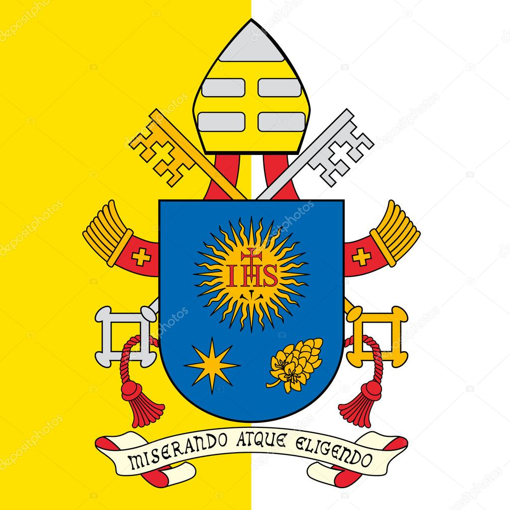 pope francis coat of arms, vatican city, holy see