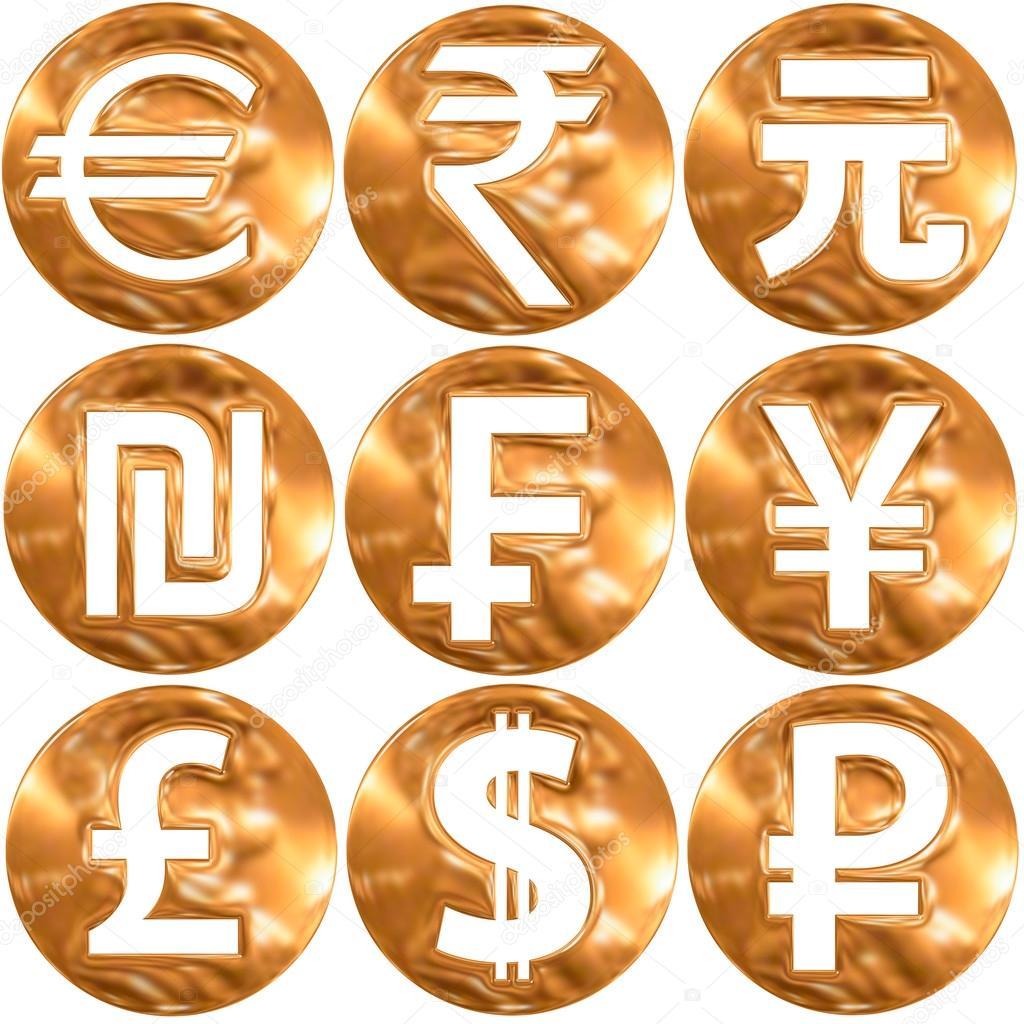World currency symbols — Stock Photo © frizio #93219220