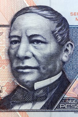 MEXICO - APPROXIMATELY 1981: Benito Juarez portrait on 50 Pesos 1981 Banknote from Mexico