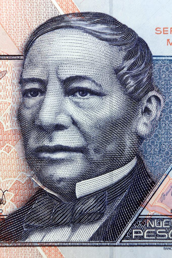 MEXICO - APPROXIMATELY 1981: Benito Juarez portrait on 50 Pesos 1981 Banknote from Mexico