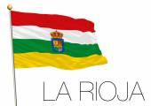 Fotografie La Rioja Regionalflagge, autonome Gemeinschaft von Spanien