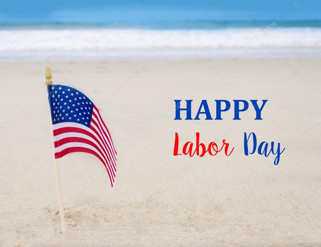 Labor Day USA background with American flag