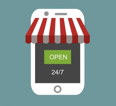 online shop on modern smart phone