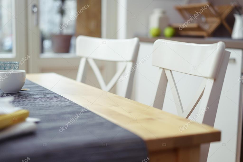 Two Empty Chairs At A Dining Table U2014 Stock Photo