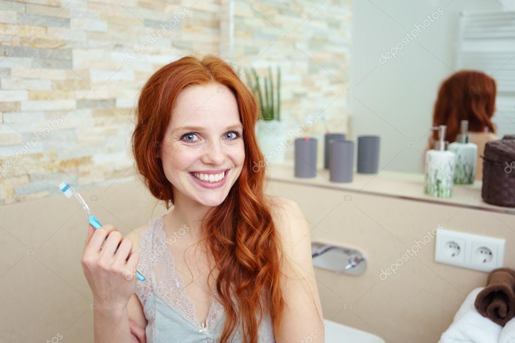 Redhead bathroom pics