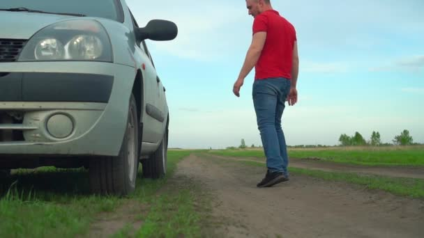 Unexpected breakdown of the Car far from the city. The Driver Wants To Get The Key For Repair