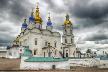 Seating yard Tobolsk Kremlin and Sophia-Assumption Cathedral pan