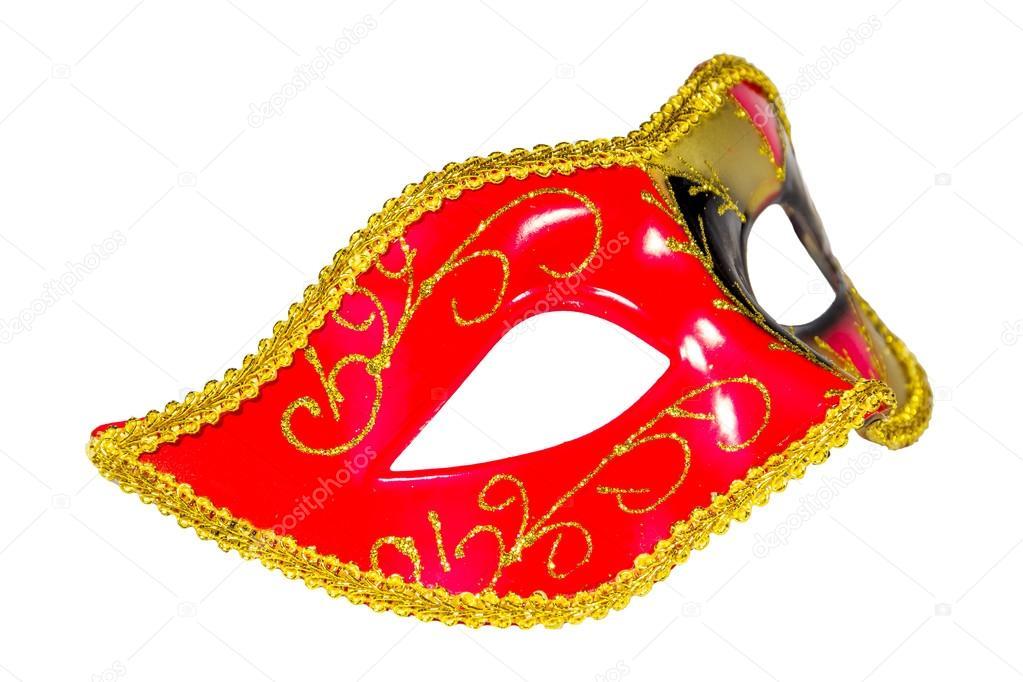 Venedik Karnaval Maskesi Desenli Asimetrik Frontal Resim Stok Foto