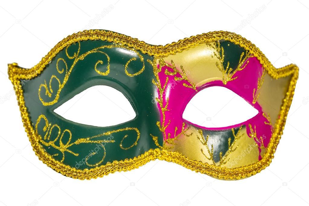 Venedik Karnaval Maskesi Desenli Asimetrik Frontal Resim Stok